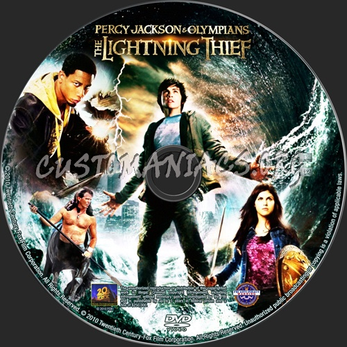 Percy Jackson & the Olympians The Lightning Thief dvd label