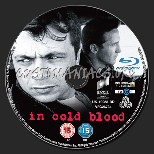 In Cold Blood Quotes And Page Numbers: In Cold Blood Blu-ray Label
