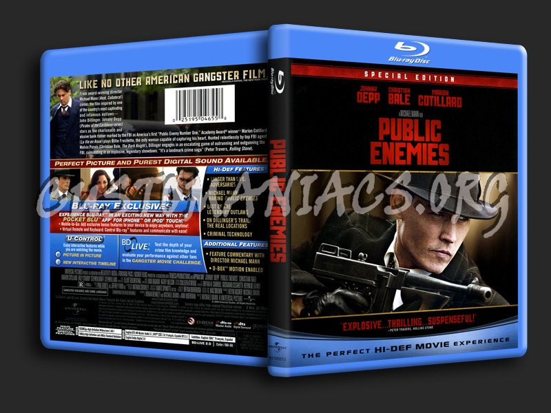 Public Enemies blu-ray cover
