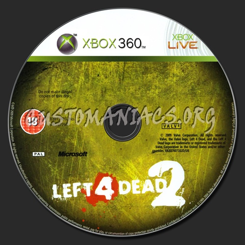 Left 4 Dead 2 dvd label - DVD Covers & Labels by Customaniacs, id