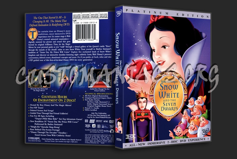 Snow White And the 7 Dwarfs dvd cover