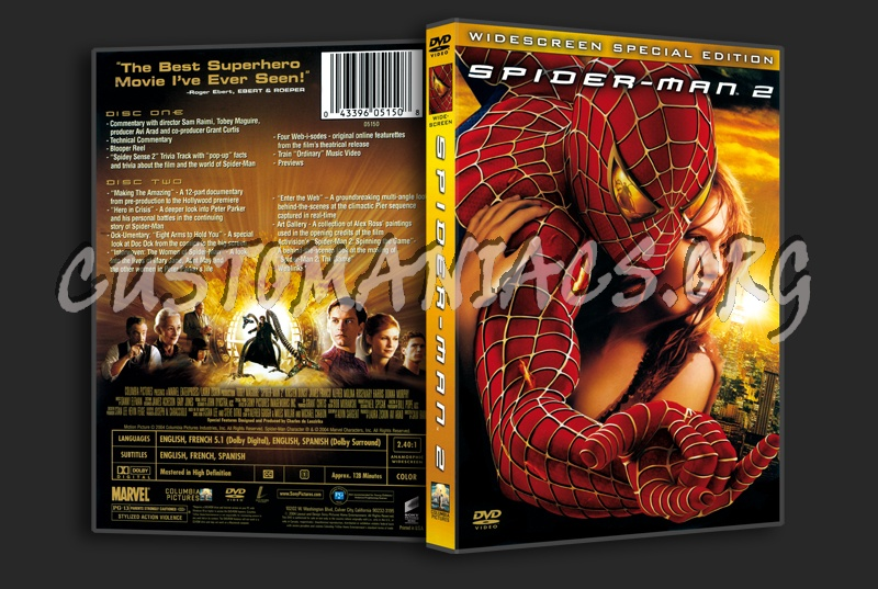 Spider-Man 2 dvd cover