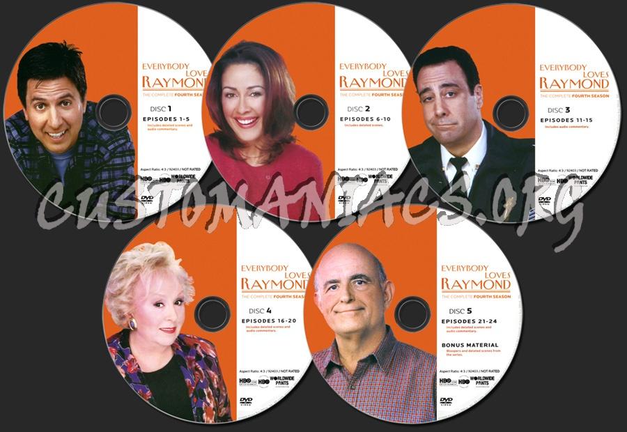 Everybody Loves Raymond Season 4 dvd label