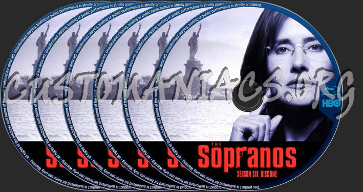 The Sopranos Season 6 blu-ray label - DVD Covers & Labels by