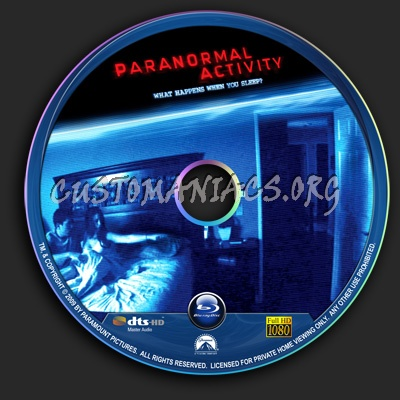 Paranormal Activity blu-ray label