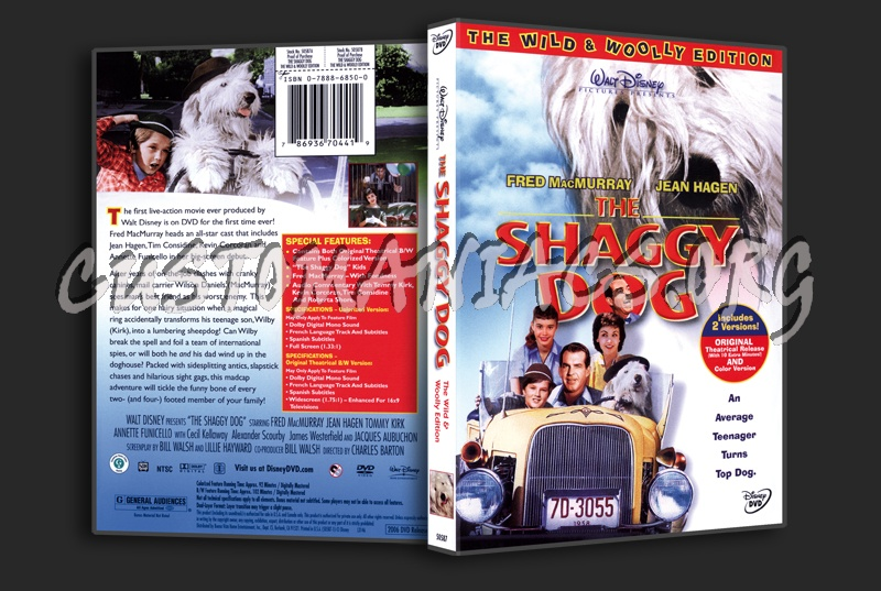 The Shaggy Dog 1959 The Wild and Woolly Edition dvd cover