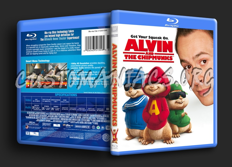 Alvin and the Chipmunks blu-ray cover