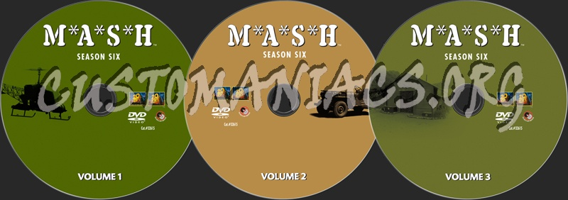 Mash Season 6 dvd label