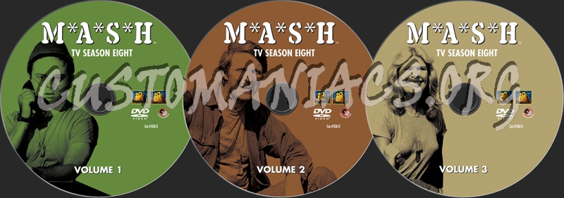 Mash Season 8 dvd label