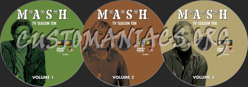 Mash Season 10 dvd label
