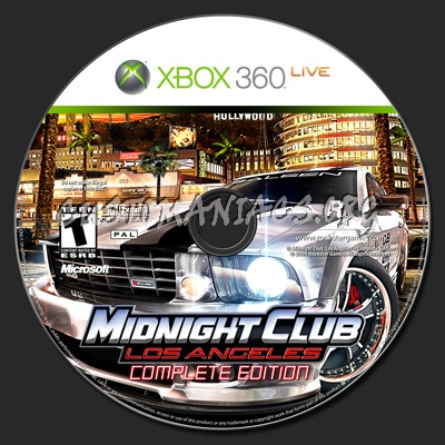 Midnight Club Los Angeles Complete Edition dvd label