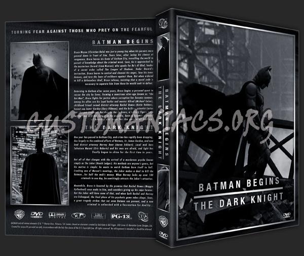 Batman Begins / The Dark Knight Combo dvd cover