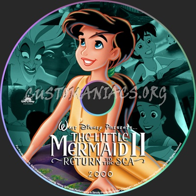 The Little Mermaid 2 Return to the Sea - 2000 dvd label