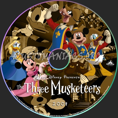 Mickey, Donald, Goofy: The Three Musketeers dvd label