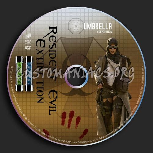 Resident Evil: Extinction dvd label