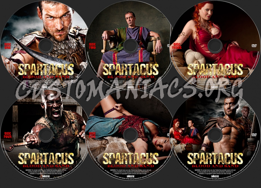Spartacus Blood and Sand dvd label
