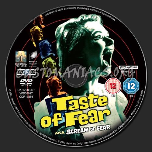 Taste of Fear dvd label