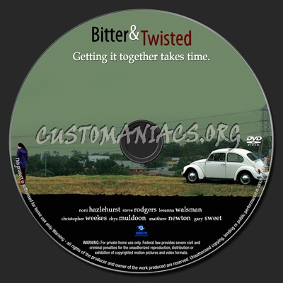Bitter & Twisted dvd label