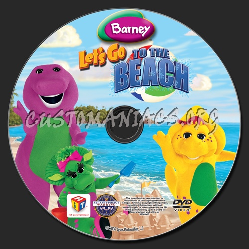 Barney Let S Go To The Beach Dvd Label Dvd Covers