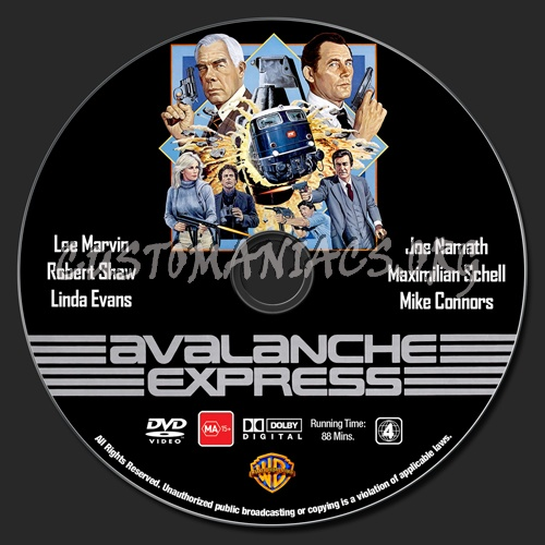 Avalanche Express dvd label