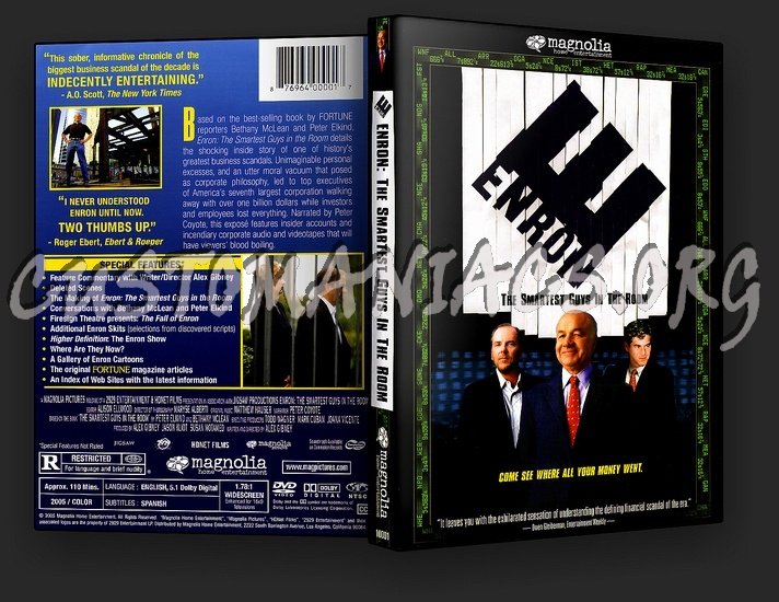 Enron - The Smartest Guys in the Room dvd cover - DVD Covers ...