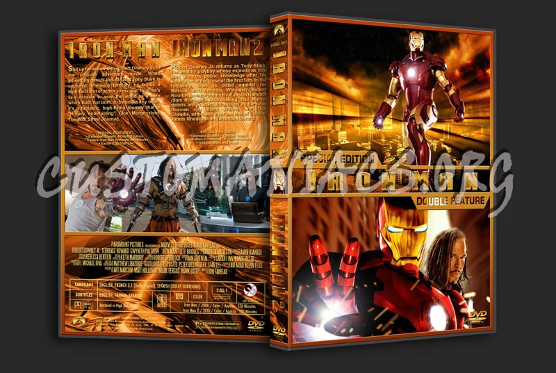 Iron Man / Iron Man 2 Double Feature dvd cover