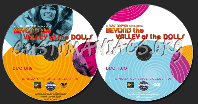 Beyond the Valley of the Dolls dvd label