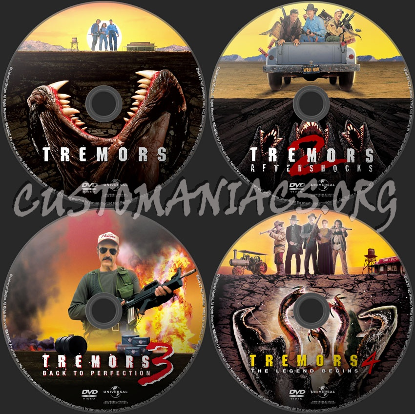 Tremors 4 12: Tremors Collection (1-2-3-4) Dvd Label