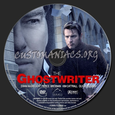 The Ghost Writer dvd label