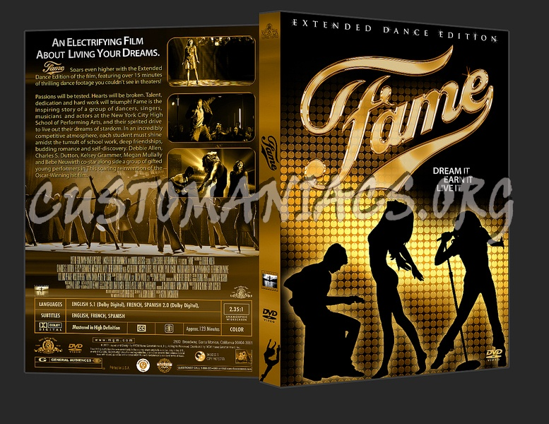 Fame dvd cover