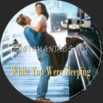 While You Were Sleeping dvd label