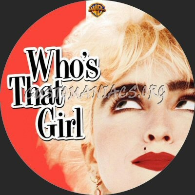 Who's That Girl dvd label