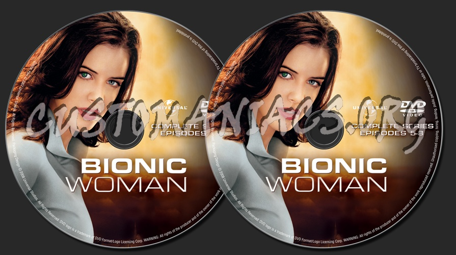 Bionic Woman Complete Series dvd label