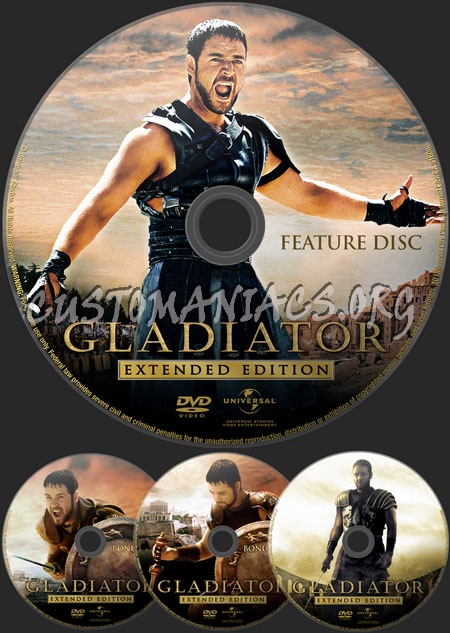 Gladiator (Extended Edition) dvd label