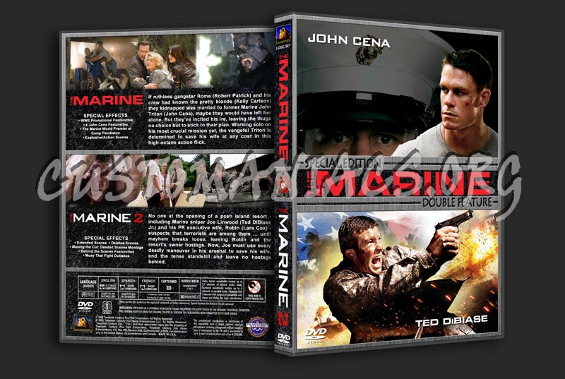 The Marine/The Marine 2 Double Feature dvd cover