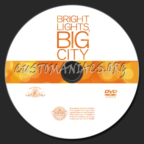 Bright Lights, Big City dvd label