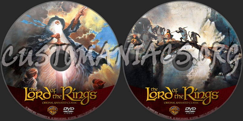 The Lord Of The Rings (1978) dvd label