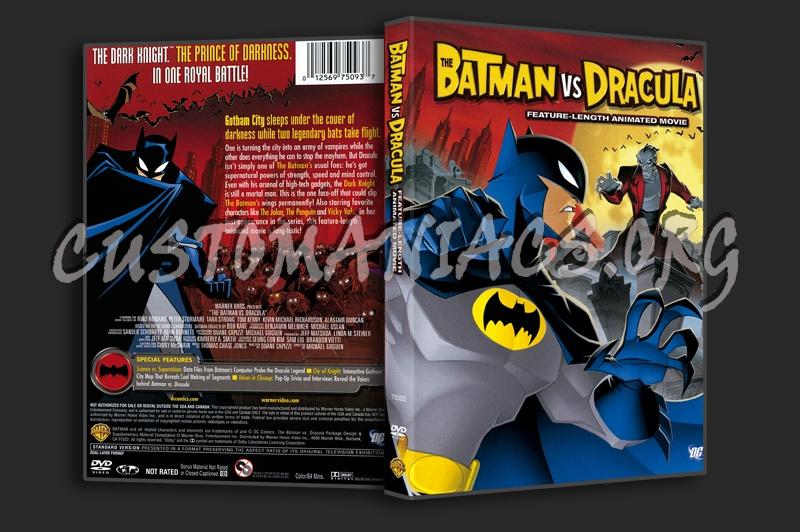 The Batman VS Dracula dvd cover