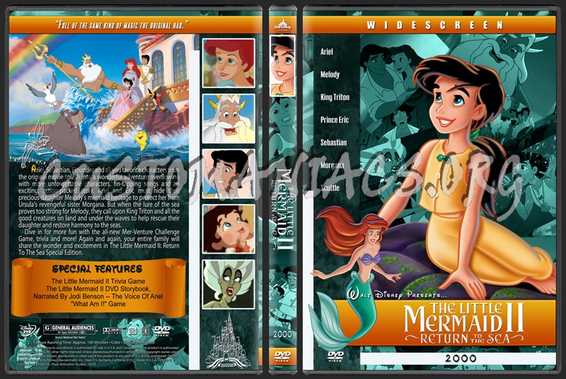 The Little Mermaid 2 Return to the Sea - 2000 dvd cover
