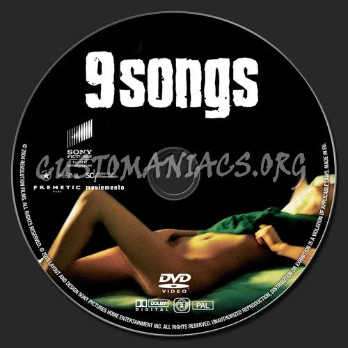 9 Songs dvd label