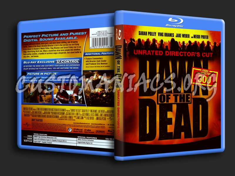 Dawn of the Dead (2004) blu-ray cover