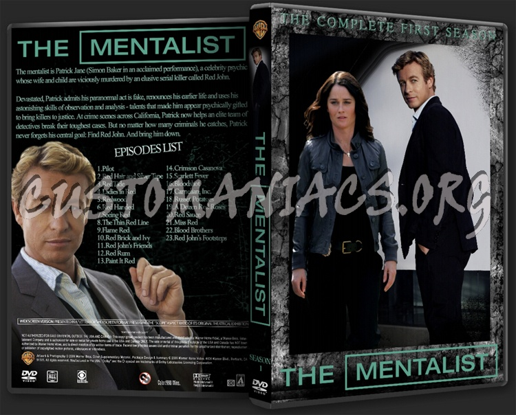 The Mentalist Season 1 dvd cover - DVD Covers & Labels by