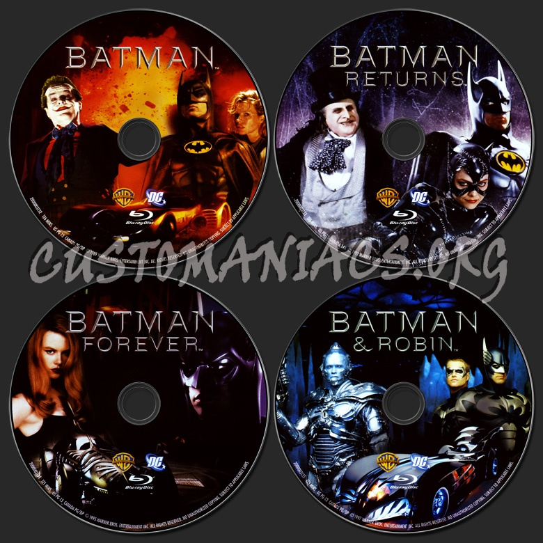 Batman Anthology 1989-1997 blu-ray label - DVD Covers ...