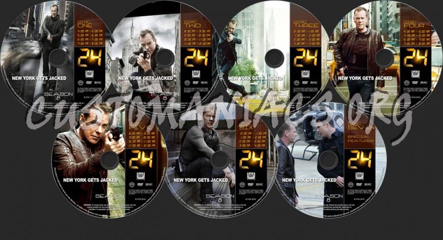 24 Season 8 dvd label