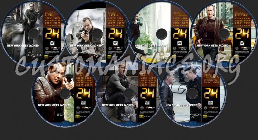24 Season 8 blu-ray label