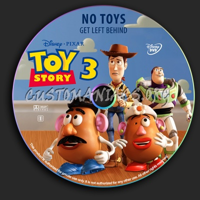 Toy Story 3 dvd label