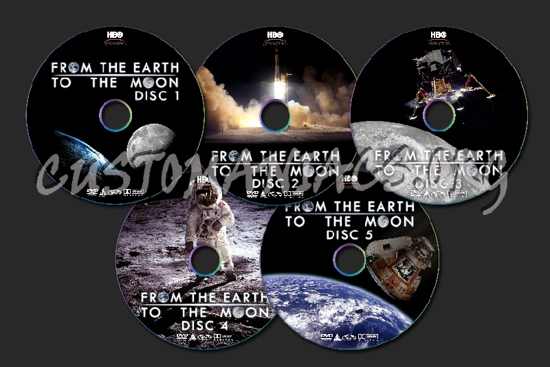 From the Earth to the Moon dvd label