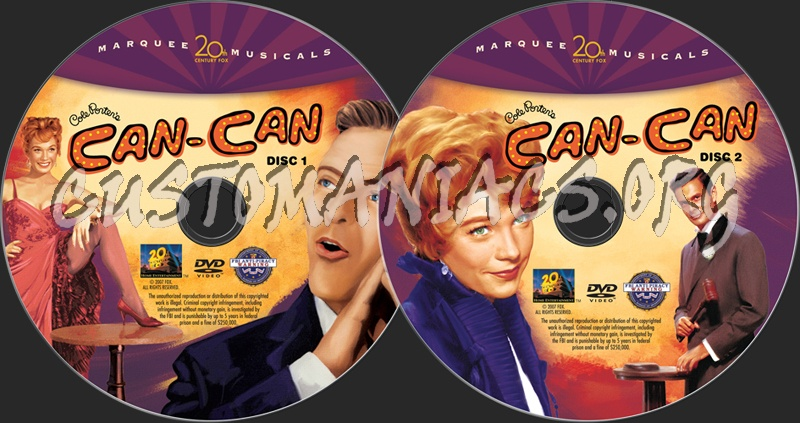 Can Can dvd label