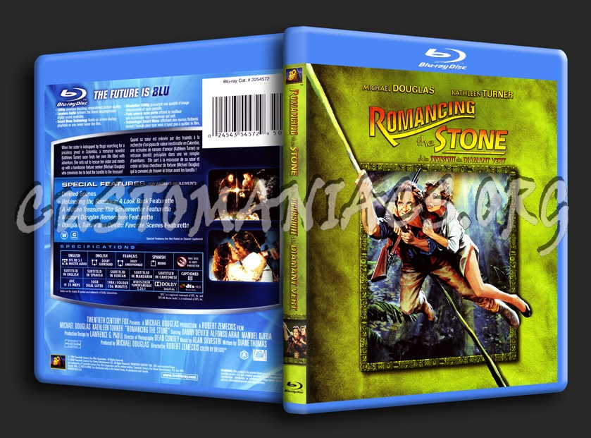 Romancing the Stone blu-ray cover