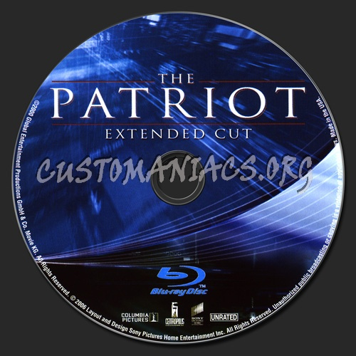The Patriot blu-ray label
